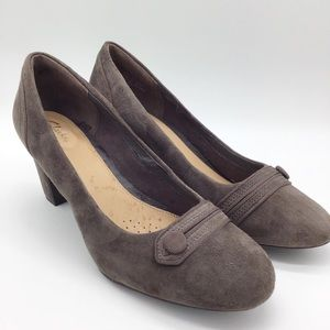 Clarks Artisan Brown Leather Heels Size 11 M